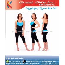 women's gym wear fitness sport set sport bra and leggings set from Pakistan manufacturer