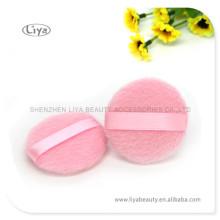 Rosa Make Up Puderquaste für Hautpflege