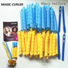 40 curlformers à barils longs avec 2 crochets de coiffage (HEAD-39)