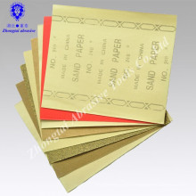 Papier de verre de polissage de bas prix, papier abrasif de grenat, papier de verre pour le bois