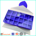 Custom White Chocolate Box With Clear Lid