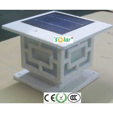 valla solar iluminación de led de alta calidad alta lúmenes led valla solar poste de luces, luz solar cerca,