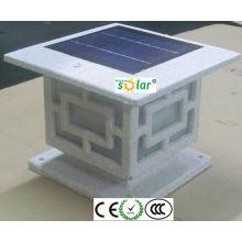 haute qualité haute lumens led solaire clôture post lumières, lumière de clôture solaire, led d'éclairage de clôture solaire