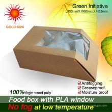 Envasado de alimentos Envases de cartón con ventana antiempañamiento