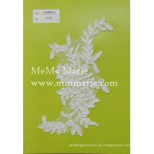Großhandel 3d hochwertige Brautkleid Polyester Grenze bestickte Schnürsenkel für Hochzeitskleid