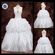 Venda por atacado das imagens de vestido de noiva Appliqued da bainha dos últimos modelos de vestidos