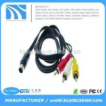7 Pin S-Video à 3 RCA Cable TV Male pour PC Laptop 5FT