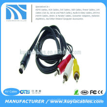 7 Pin S-Video to 3 RCA Cable TV Male for PC Laptop 5FT