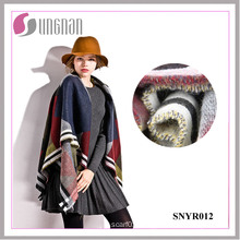 2015 High Quality Colorful Geometric Ladies Elegant Imitate Cashmere Scarf