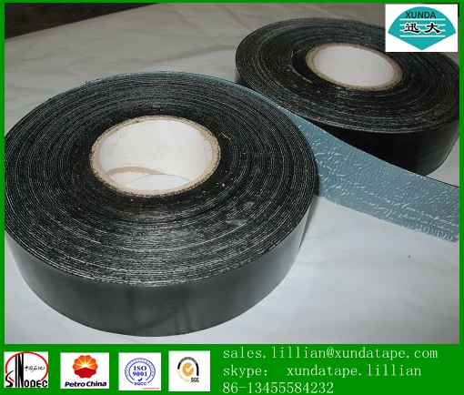 High adhesive 3 ply tape for underground pipeline for special section tube