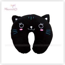 Black Cat Shape Neck Cushion