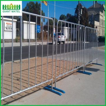 Galvanized Road Satety Crowd Control Barrera