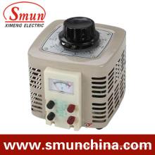 Entrada de regulador de voltaje de contacto de 3 kVA Salida monofásica de 220 VCA 0 ~ 250 VCA