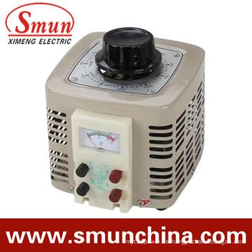 Entrada de regulador de voltaje de contacto 2kVA Salida monofásica 220VAC 0 ~ 250VAC