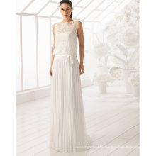 Lace Chiffon Beach Wedding Dress (RS021)