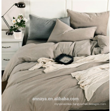 Muji styles--Solid washed cotton bedding set