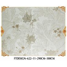 Papier peint épais de haute qualité de textile, mur de photo, papier peint profond de gaufrage