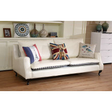 Cream Color America Leather Sofa (C022)