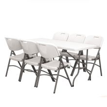 Venda quente Realsport dobrável móveis HDPE dobrável de plástico acampamento aço quadro mesa