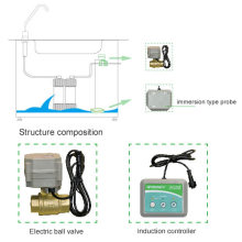 Uso doméstico com válvulas de corte automáticas Detecção de vazamento de água Detector Sistema de alarme