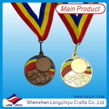 Medalla deportiva de giro de plata de plata de giro de plata para la venta