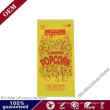 Wholesale New Design Food Grade Grease Proof Custom Print Kraft Paper Microwave Popcorn Packaging Bag