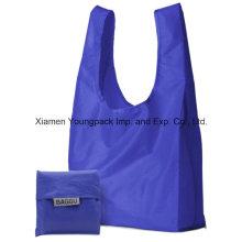 Baggu billige Werbe-benutzerdefinierte wiederverwendbare 190t Nylon Foldable Shopper Bag