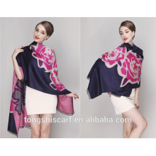 2016 Winter pashmina shawls scarf with floral printed pattern