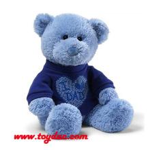 Plüsch T-Shirt Blauer Bär