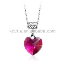 Vente en gros de pendentifs en cristal à base de coeur