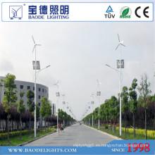 Luz de calle solar de la turbina de viento de 8m poste 50W LED (BDTYN850-w)