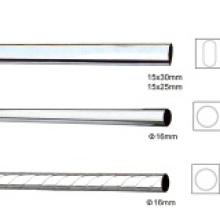 Round Chrome Curtain Iron Steel Pipe Tube Pole Rod