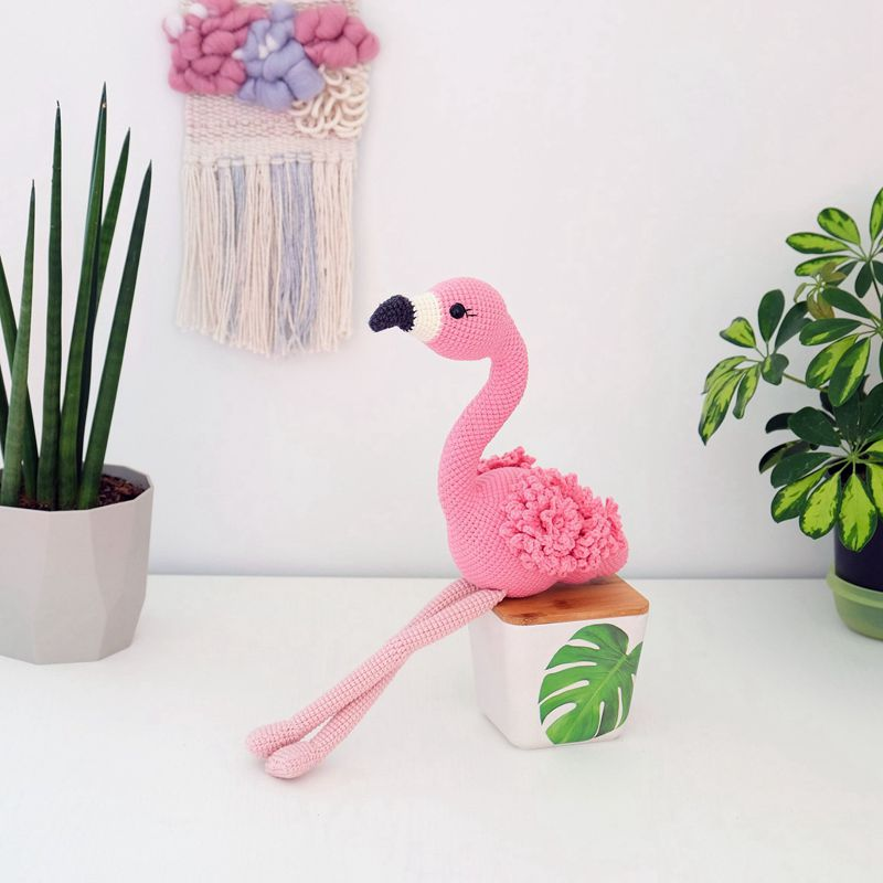 10 3 Crochet Flamingo