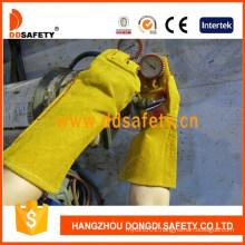 Yellow Cow Split Leather Reinforced Welder Glove Safety Gloves