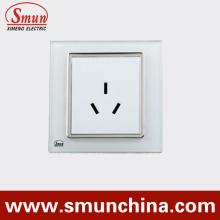 Conector de pared blanco de 3 clavijas, interruptores de pared