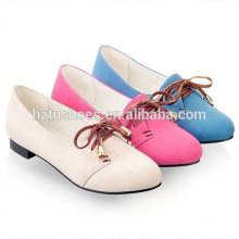 Art und Weise beiläufige Frauen flache Schuhe weiche einfache runde Zehe flache Frauenschuhe lace-up Frauen Turnschuhe