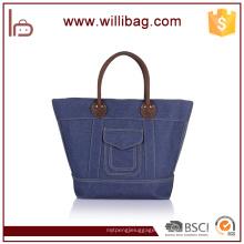 Top qualité sac à main en cuir véritable avec sac fourre-tout en toile durable