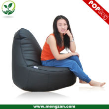 Black PU leather luxury beanbag sofa/ lazy beanbag chair