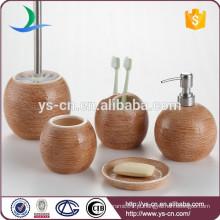 China fábrica rodada acessório de banho de cerâmica em acabamento gunny