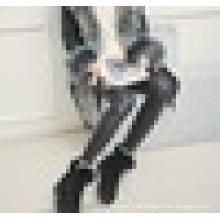 Feminino aumentou curto botas couro fosco coelho cabelo fundo de cunha grossa adicionar veludo curto tubo de algodão sapatos botas de inverno