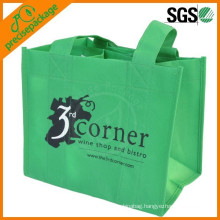 6 bottle non woven wine bag with enforced handle