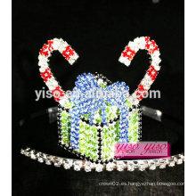 Señoras de accesorios para el cabello pastel de dulces tiara de cristal