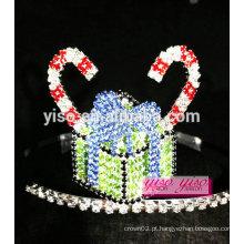 Acessórios para cabelo feminino bolo doce tiara de cristal