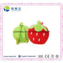 Stuffed Strawberry Children′s Schoolbag Soft Plush Toy