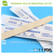 E-O Sterile disposable wooden tougue depressor for medical use
