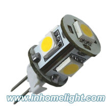 5050 SMD led G4 ampoule G4 lumières Warm White 12V DC