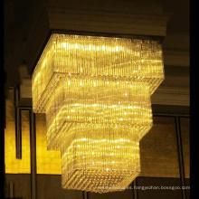 Iluminación de cristal modificada para requisitos particulares grande de la lámpara para el hotel, lámpara de encargo de la fábrica Chandelier de la habitación