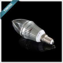 Luz de vela LED 3W alumínio regulável