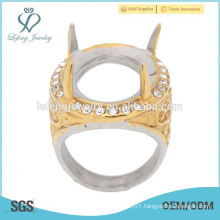 New arrival fashion silver/gold 316l stainless steel men ring, finger indonesia ring without stone