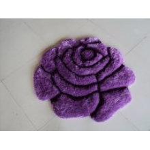 Lila Seide Rose Muster Teppich Bombe